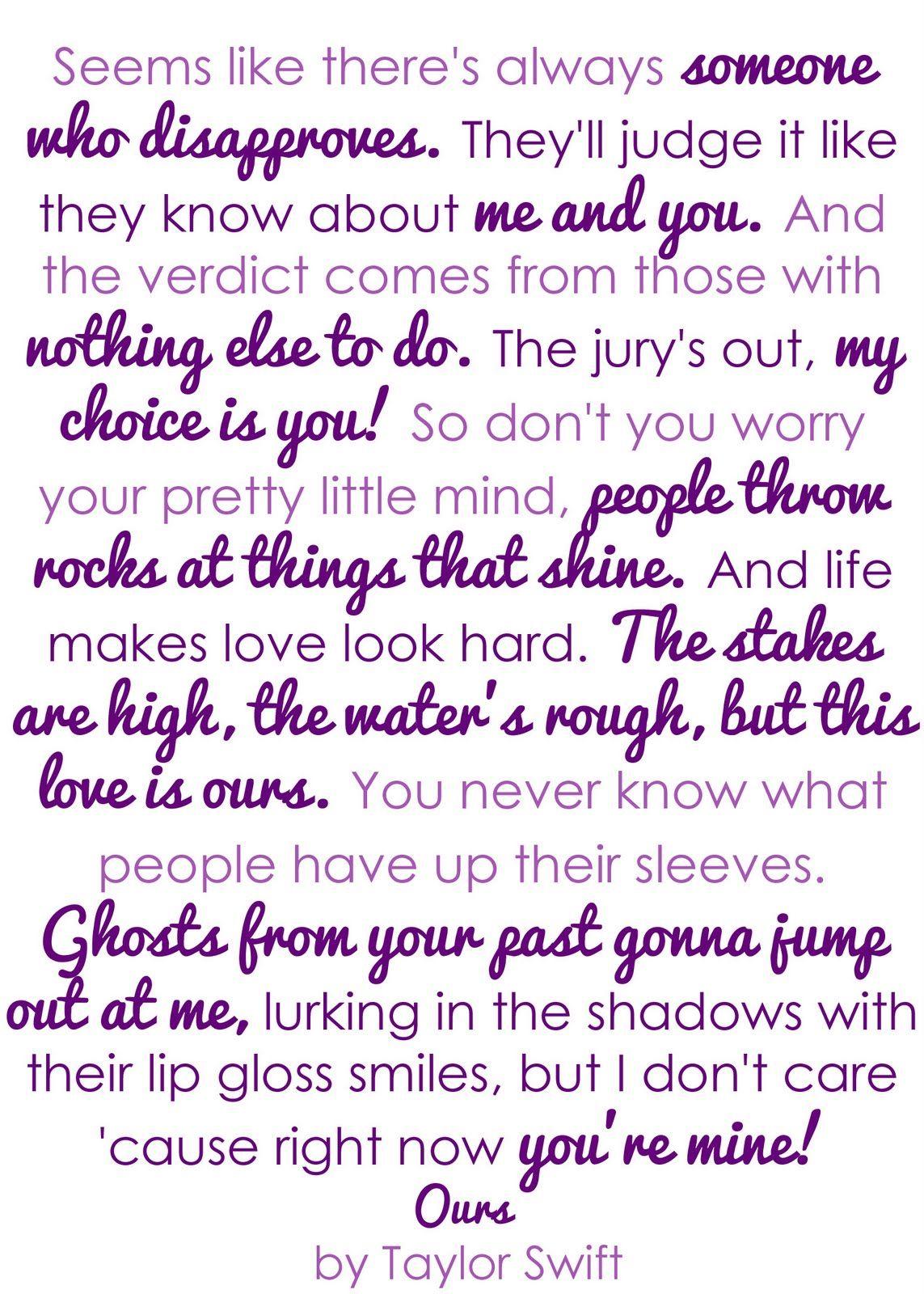 Songtext von Taylor Swift - Ours Lyrics