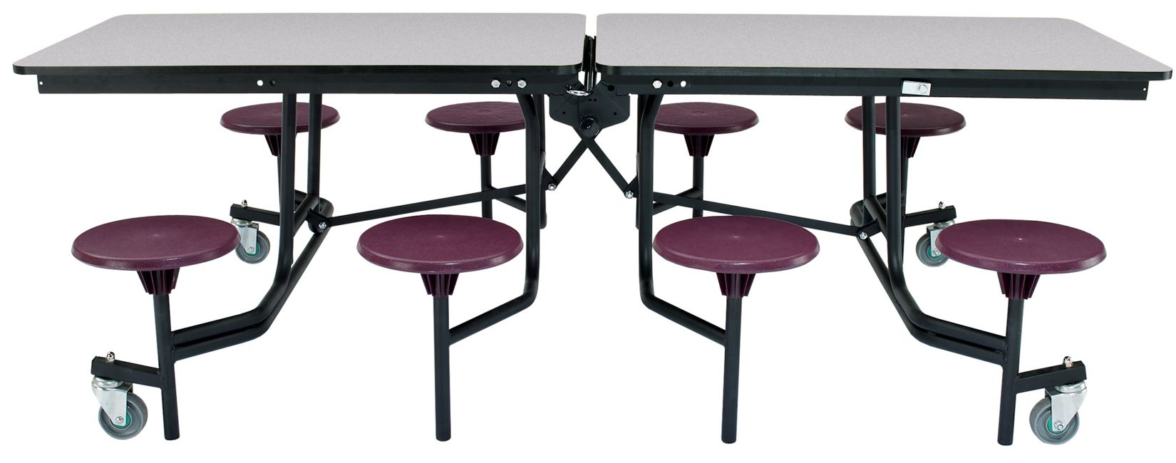 Mobile Stool Cafeteria Table Particleboard Top W T Mold Edge 8 L Cafeteria Table Black Dining Room Chairs Industrial Dining Chairs