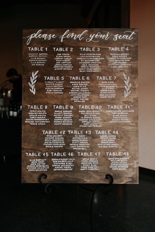 Elegant Wedding Seating Chart Idea Wooden Sign Luxe Event Productions