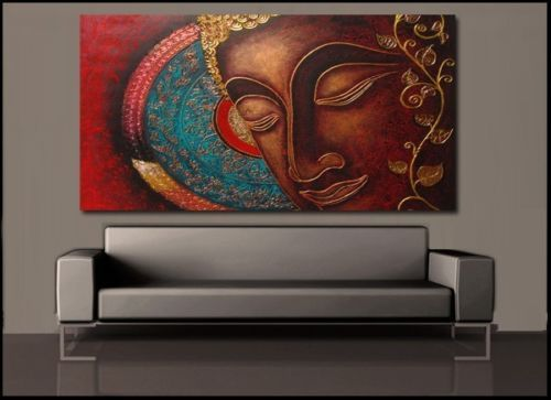 Buddha India Canvas Painting Prints Wall Art Home Decor UnFramed