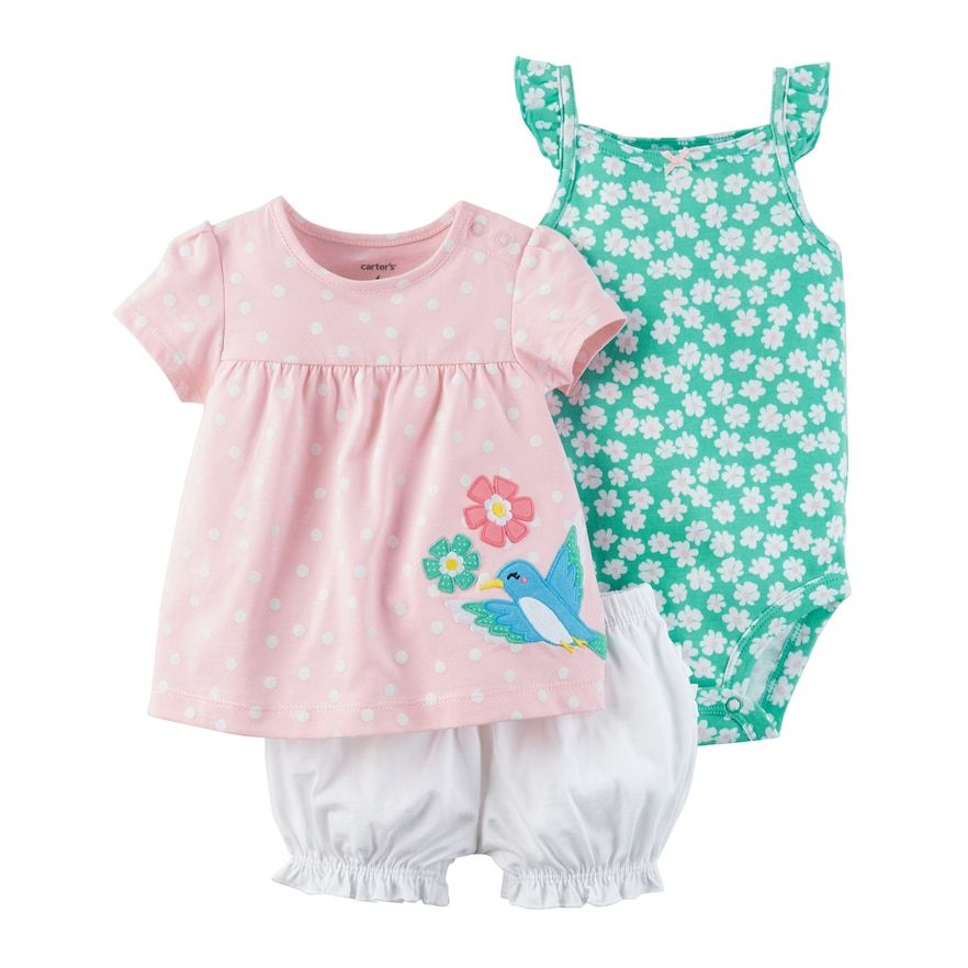 feaafe9b723 Carter s Baby Girl Birdie Diaper Cover Set