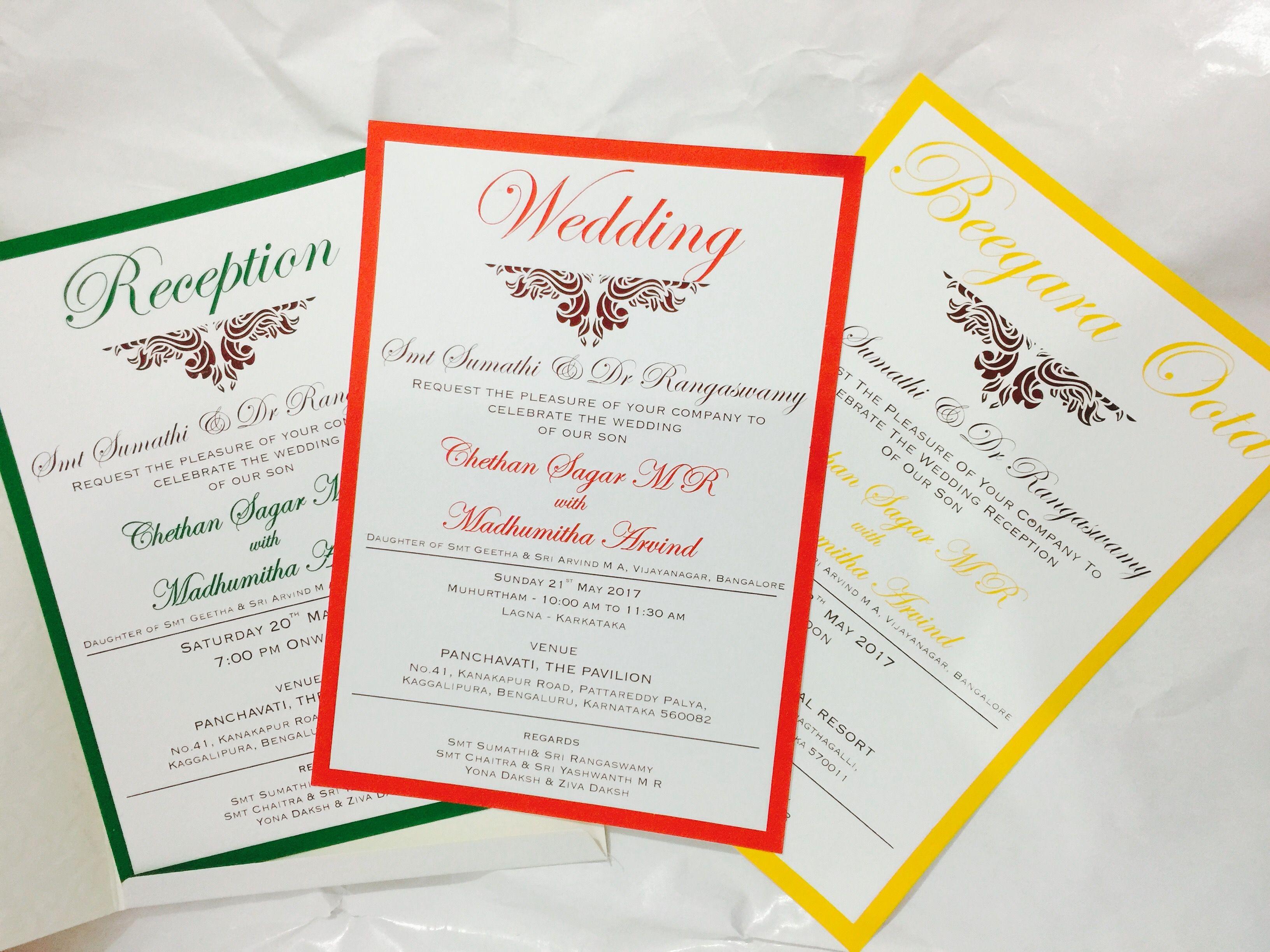 Customised Wedding cards.. #southindianwedding #gowdastyle ...