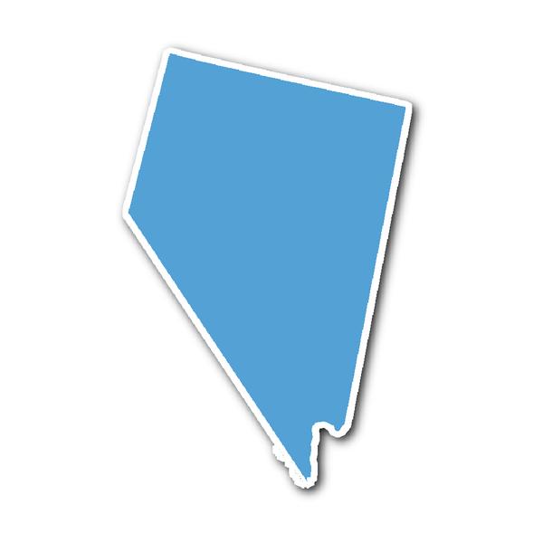 Nevada State Shape Sticker Outline Carolina Blue Nevada State Nevada State Shapes