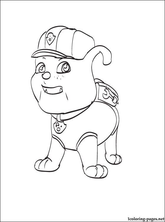 Coloring page Rubble PAW Patrol | Coloring pages | color sheets ...