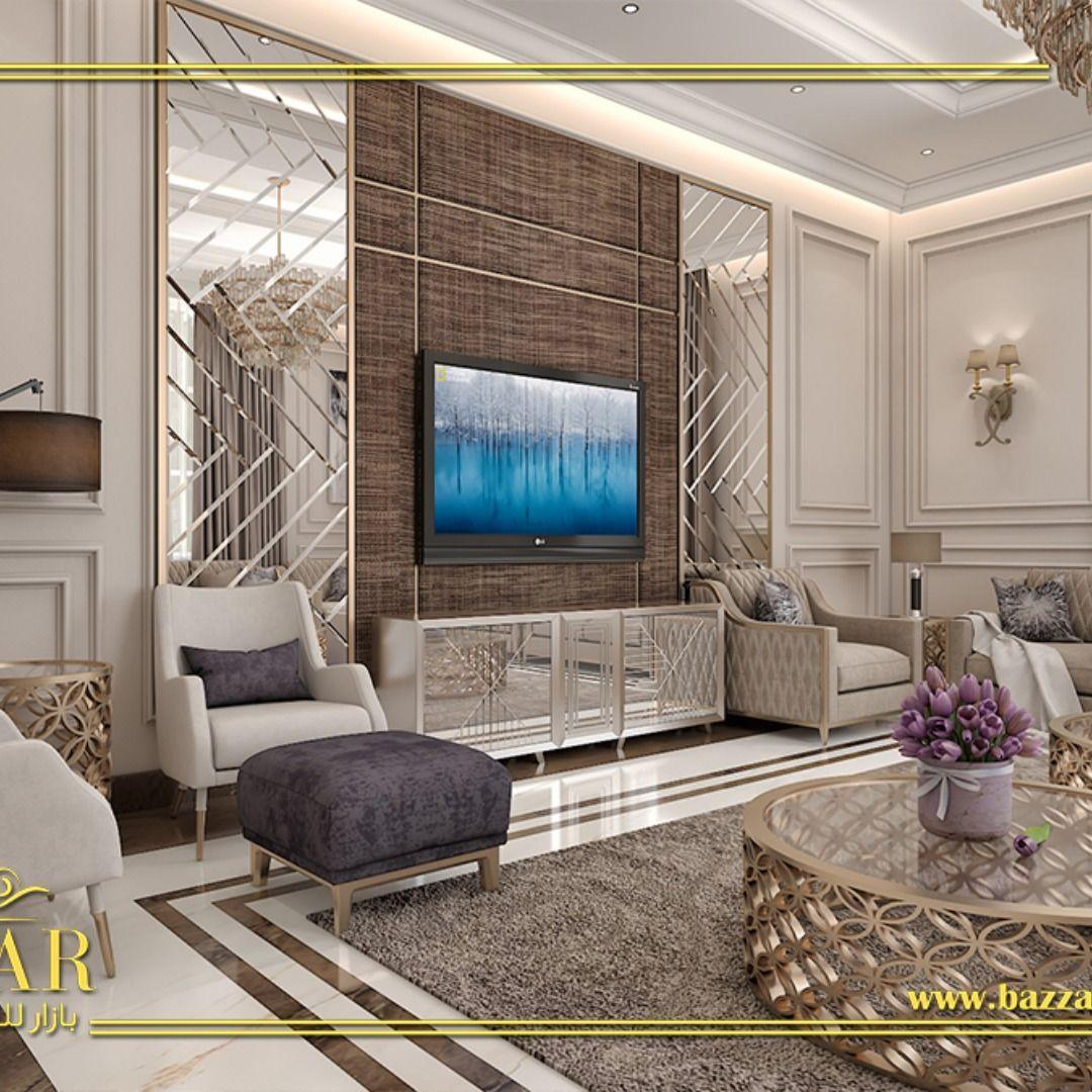 إليكم هذا التصميم الفخم لإحدى المجالس المميزة التي أعتمدت على اللون الكافيه في الديكورات والأثاث كما تم تعليق ن Luxury Design Luxury Design Print Hotels Design