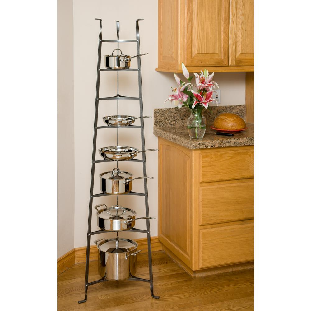 Enclume 8-Tier Cookware Stand Free Standing Pot Rack in ...
