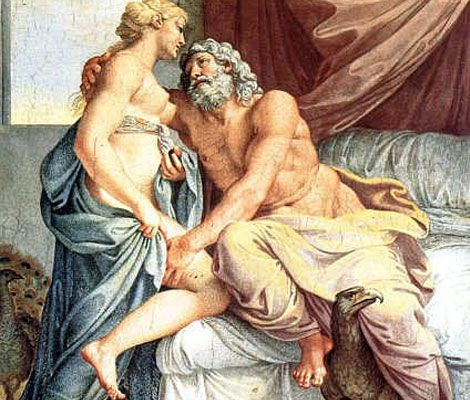 "Jupiter and Juno (Zeus and Hera)"". Painting by artist Annibale ..."