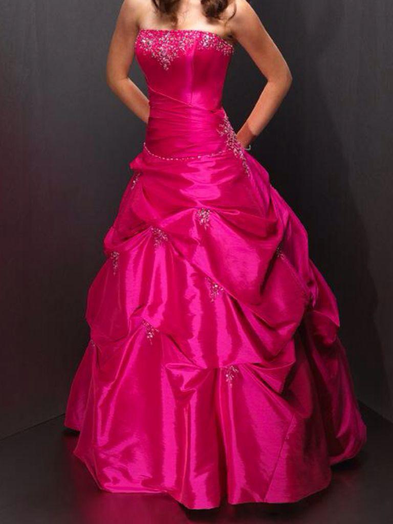 Hot pink homecoming dress  Hot pink silk dress  Modest Dresses  Pinterest  Pink silk Silk