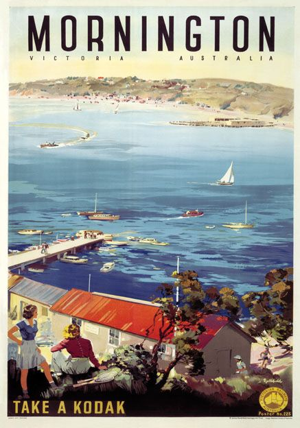 Seriously How Can They Have A Whole Poster Dedicated To The Mornington Peninsula And Not Mention The Posters Australia Vintage Travel Posters Travel Posters