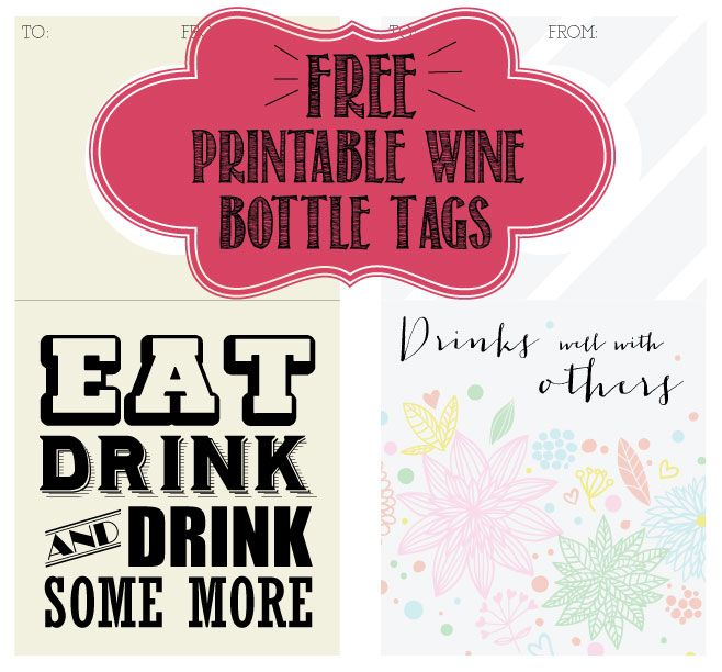 Printable Wine Bottle Tags from filthymuggle Printables - free wine bottle label templates