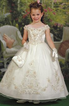 FLOWER GIRL.Brides Magazine: Cupids by Mary's Bridal : Style No. FFEC : Flower Girl Dresses Gallery