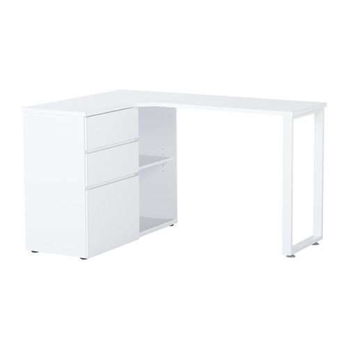 ikea tjenis bureau d 39 angle d cor maison pinterest bureaus room and room decor. Black Bedroom Furniture Sets. Home Design Ideas