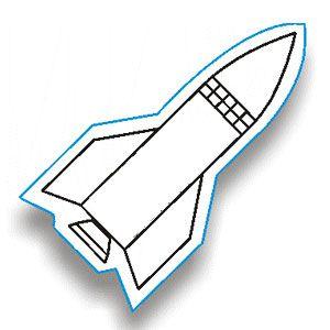 Rocket Ship Template  Rocket Ship Use as base template cut out