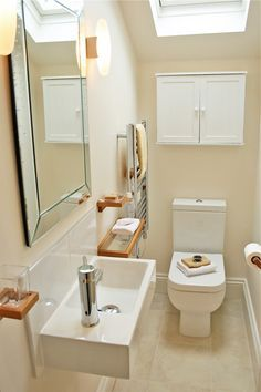 21 Big Ideas For Tiny Bathrooms Cool Home And Interior Design Ideas See More Downstairs Toilet