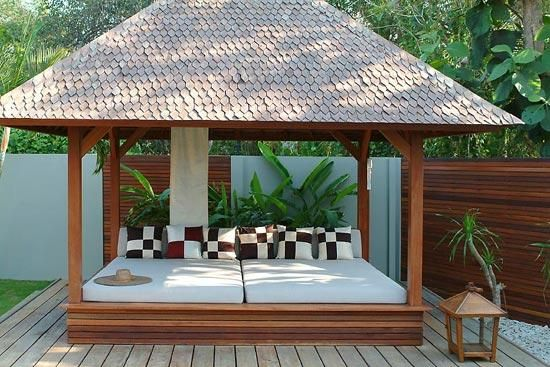 Bali hut daybed asia inspired home pinterest daybed for Pool hut designs