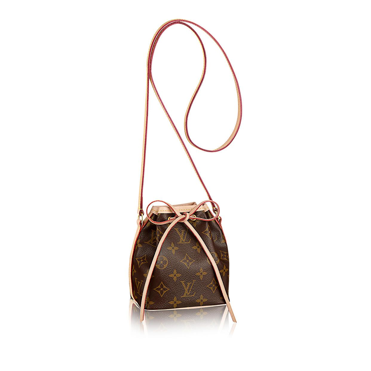 Discover Louis Vuitton Nano Noe  The ultra-feminine Nano Noé in iconic Monogram  canvas is the ideal way to carry your daily essentials. 8e8b1232f4206