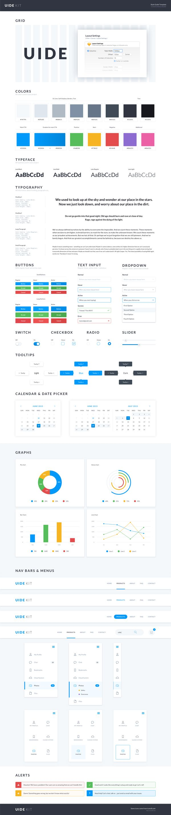 Modern Web Style Guide Template Vignette - Professional Resume ...