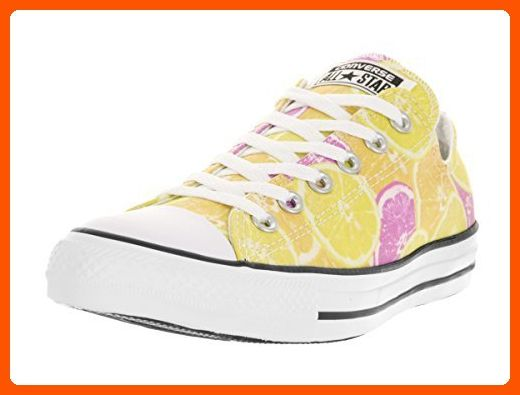 a37ff270b6be6c Converse Unisex Chuck Taylor All Star Ox Low Top Classic Yellow Orange Pink  Sneakers