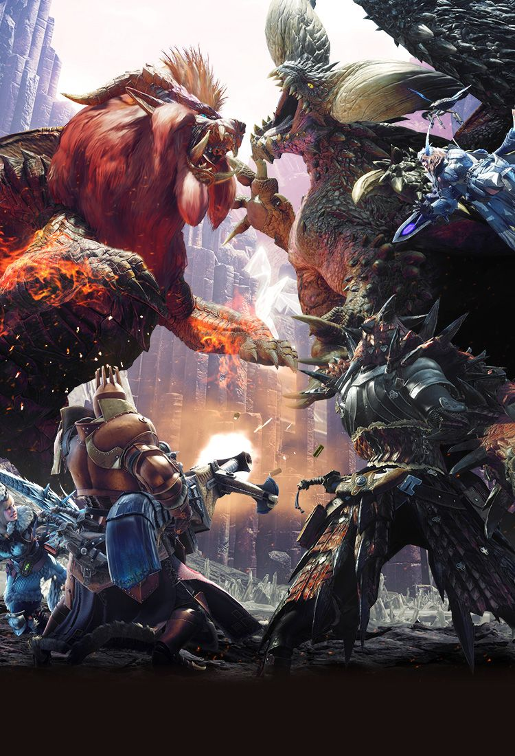 Capcom モンスターハンター ワールド 公式サイト モンスターハンター モンハン 壁紙 モンハン イラスト