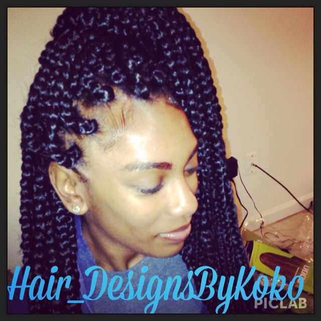 Jumbo box braids done by me! :-)