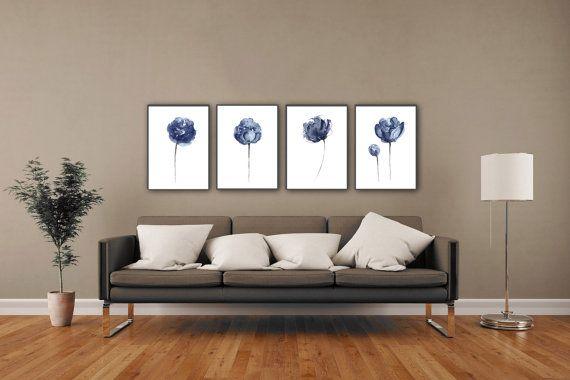 Modern Interieur Schilderij : Getextureerde grote abstracte schilderij acryl schilderij op