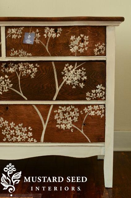 brush gallery  Floral Painted FurnitureCute. brush gallery   Mustard seed  Bedspread and Mustard