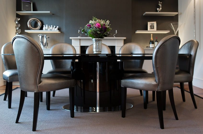 Large Black Gloss Dining Table Diningtable Black Blackgloss