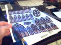 Tips & Tricks 3 - print stain glass windows from a color printer on transparency printing paper