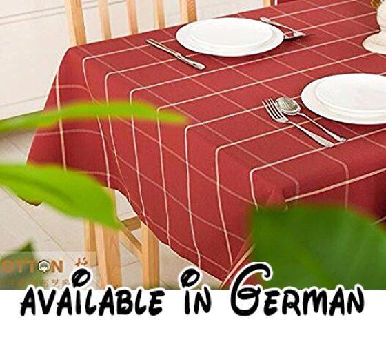 WFLJL Tischdecke Baumwolle Eindickung Esstisch Wohnzimmer Couchtisch - wohnzimmer creme rot