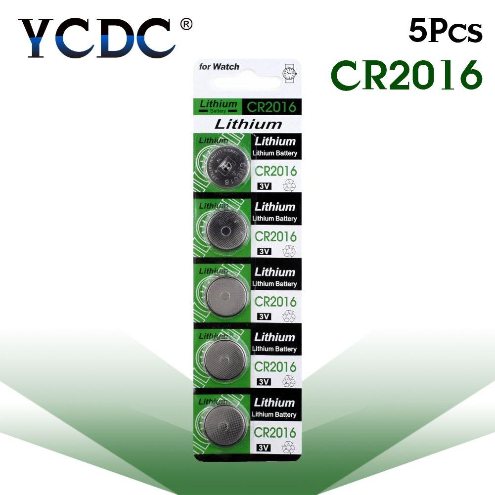 5 Pcs Pack Piles Bouton Cr2016 Br2016 Lm2016 Dl2016 Pile Bouton Au Lithium Batterie 3 V Cr 2016 Pour Montre Electronique Jouet A Distance Montre Electronique Accessoires Electronique