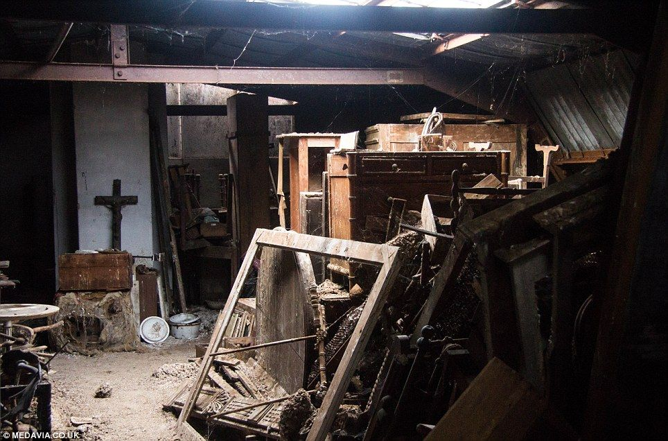 The Basement La Part - 25: Cobwebs Galore: A Store Room In The Basement Of The Chateau Is Filled With  Old