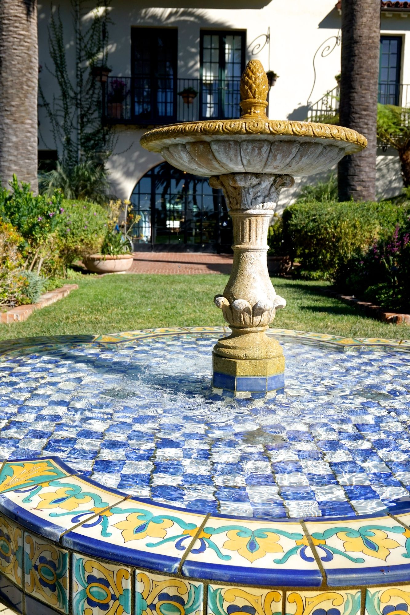 This Tiled Fountain At The Biltmore Hotel In Santa Barbara Is A Visual Treat 1926 When Bowman Hotels Corporation Hired Johnson To Design
