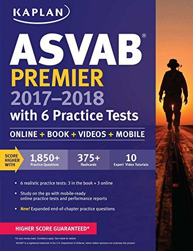 Asvab premier 20172018 with 6 practice tests online book videos asvab premier 20172018 with 6 practice tests online book videos kaplan test prep fandeluxe Images