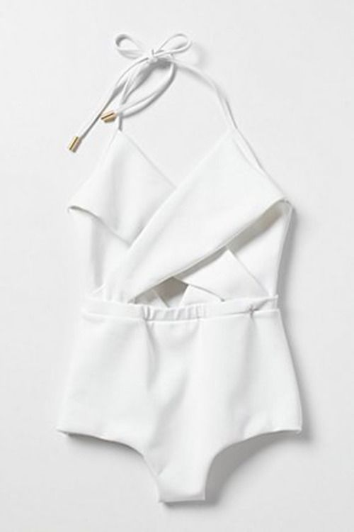 white bathing suit