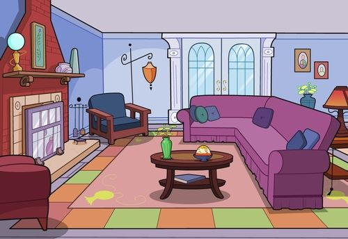 Living Room Cartoon Clip Art Living Room Clipart Cartoon Clip
