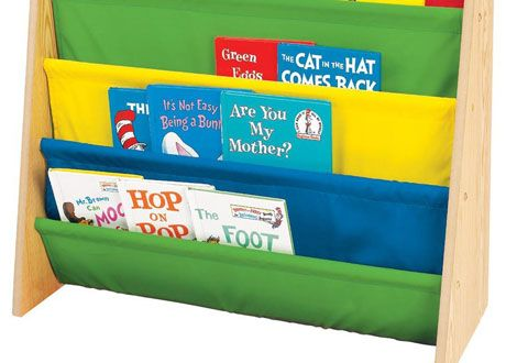 childrens bookcases and storage tot tutors book rack primary colors - Tot Tutors Book Rack Primary Colors