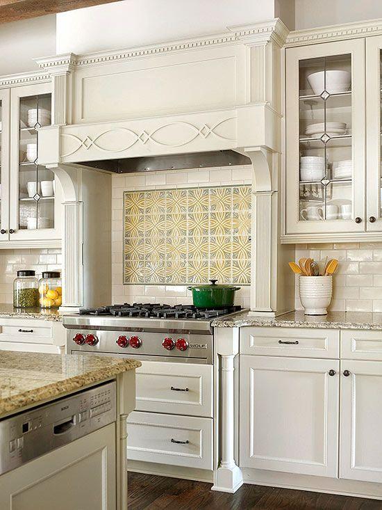 Backsplash Tile Patterns Kitchen Hood Design Patterned Tile Backsplash Kitchen Remodel