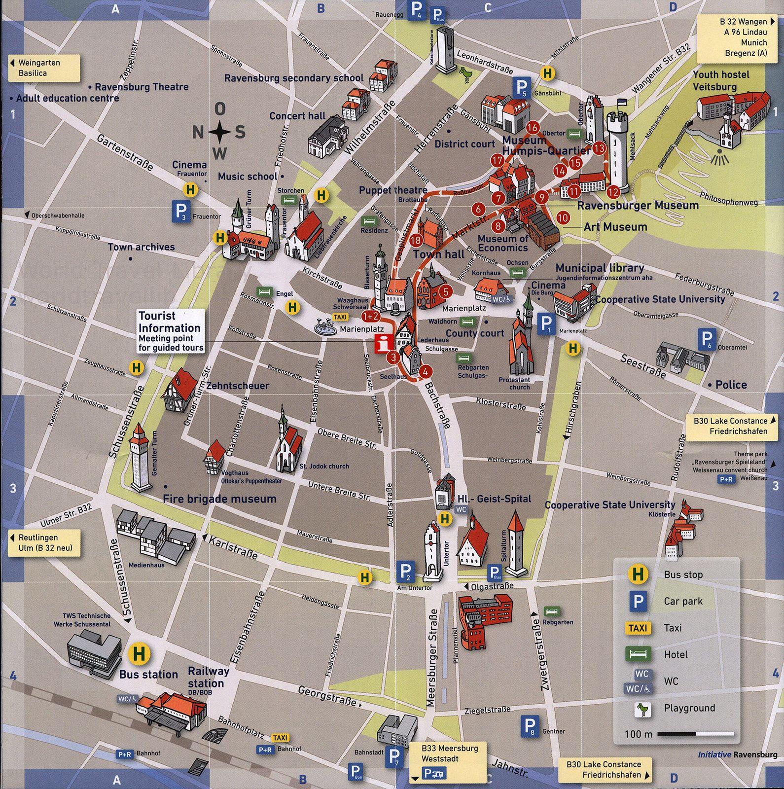 Enjoy Ravensburg Ravensburg Erleben 2017 3 Map Karte Baden