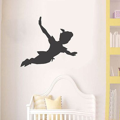 Peter Pan Schatten Wand Aufkleber Kinderzimmer Von Wall4stickers