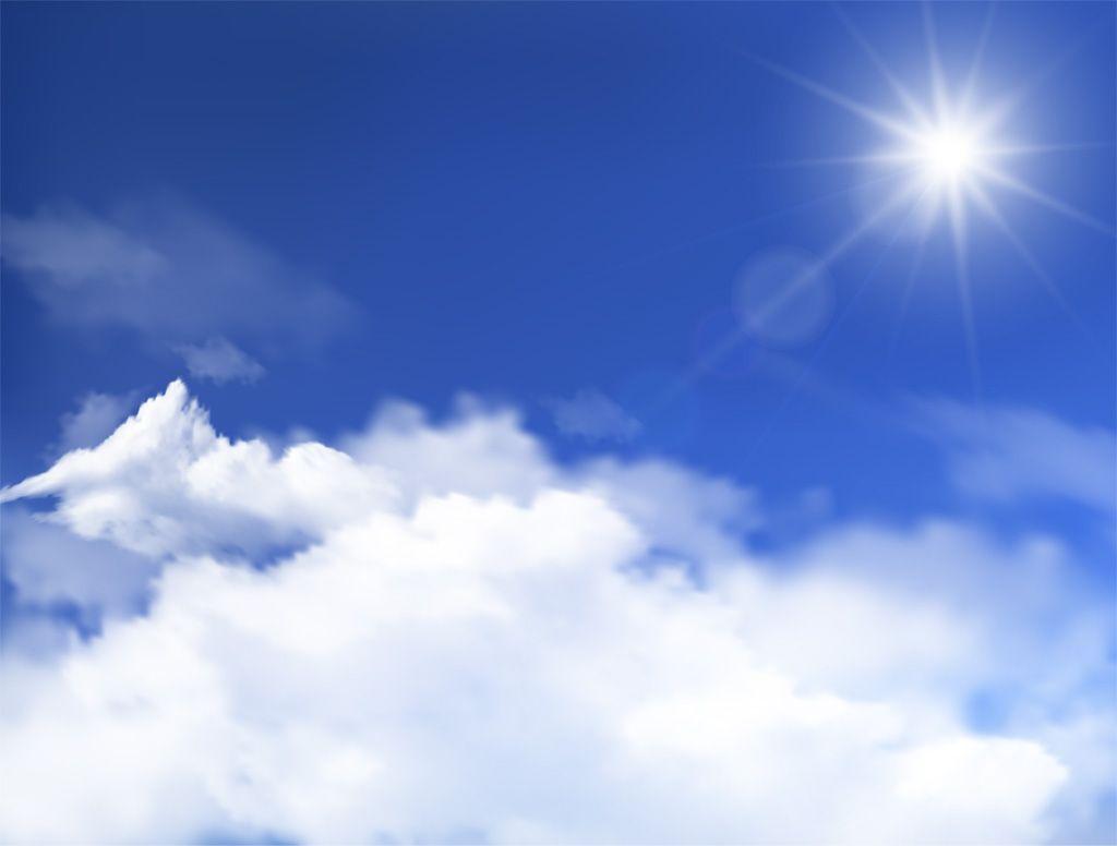 フリーイラスト素材 イラスト 自然 空 青空 雲 雲海 日光