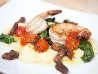 Deconstructed Roasted Tomato Grits and …