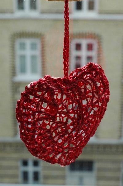 3d Heart Free Pattern Crochet X Mas Pinterest Herz Häkeln