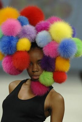 The divine and colourful pom-pom hat by Soren Bach