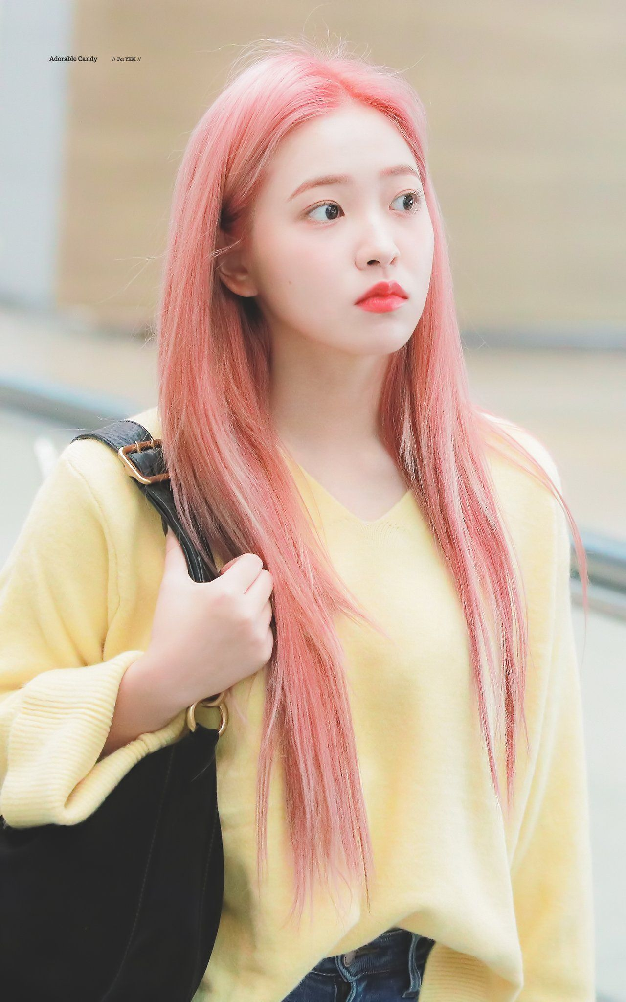 Adorable Candy On Twitter Pink Hair Red Velvet Girl With Pink Hair