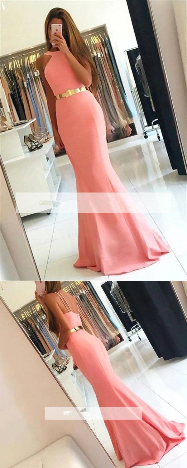 Pink mermaid long prom dress pink long prom dress gorgeous