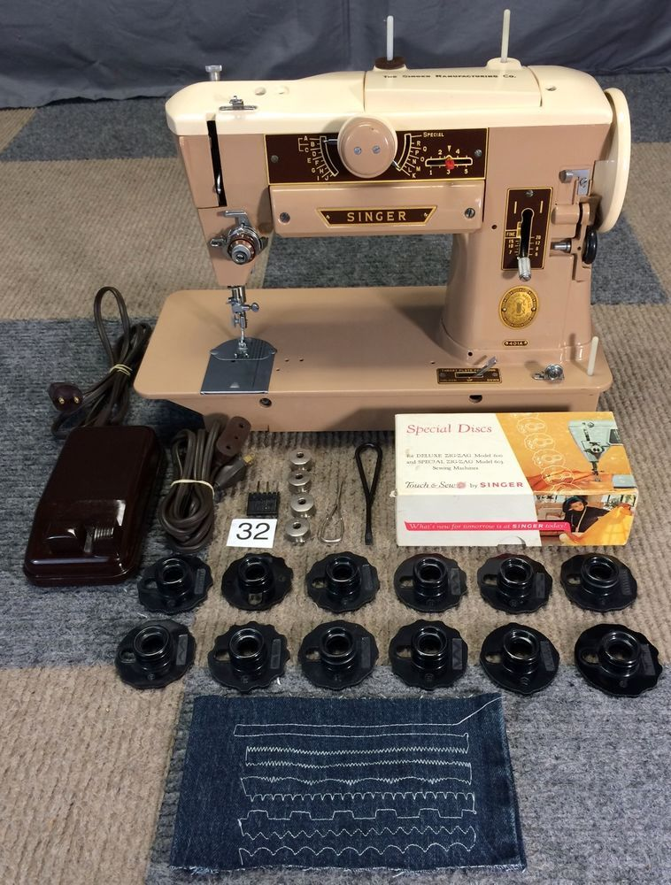 SERVICED WORKS PERFECT 40 SINGER 40A SLANTOMATIC SEWING MACHINE Simple Big Lots Sewing Machine