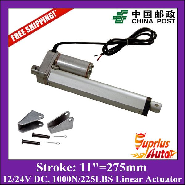 Free DC 12V/24V 11inch/275mm linear actuator for window opener