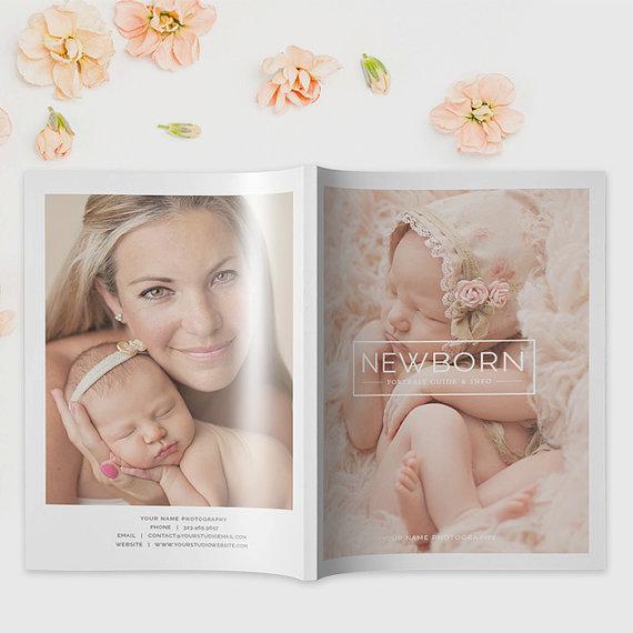 Newborn photography magazine template photography magazine