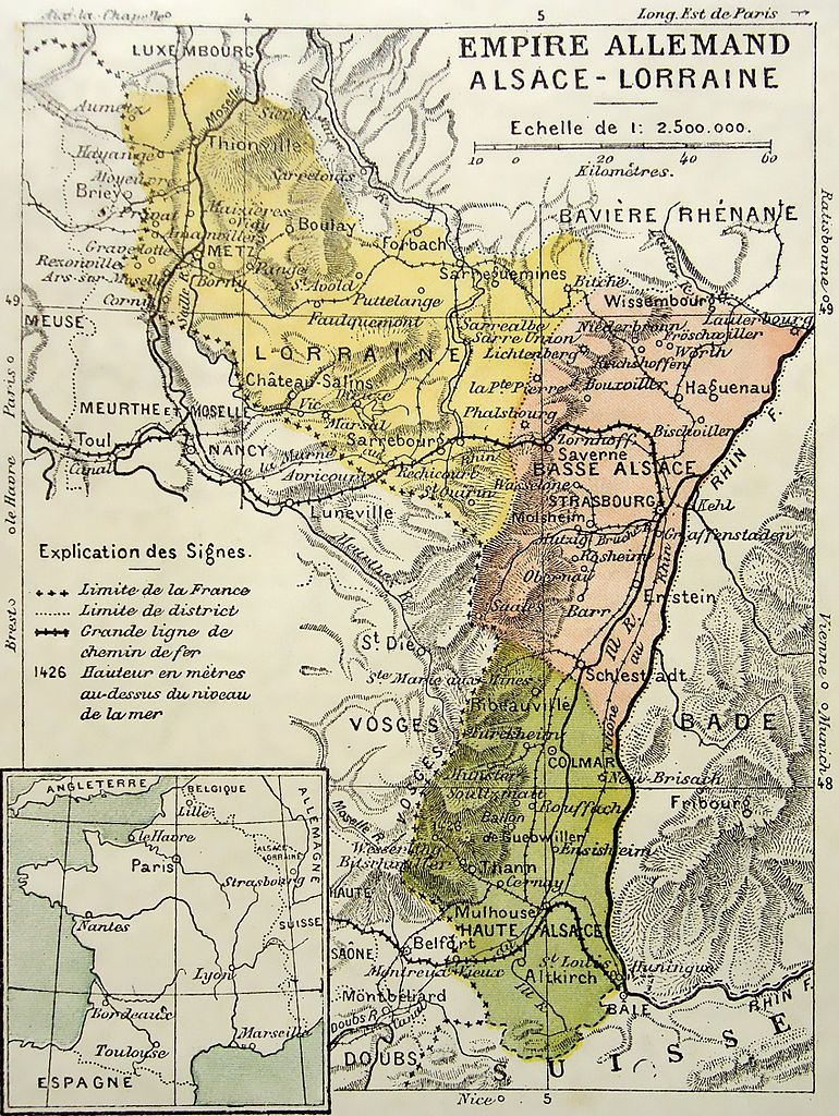 The Imperial Territory Of Alsace Lorraine Ca 1910 Educational