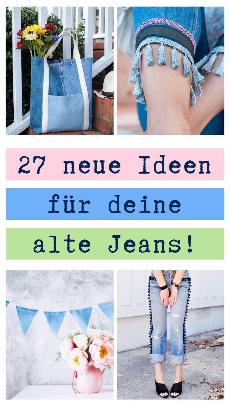 Einkaufstasche nähen mit GRATIS Schnittmuster / DIY Upcycling Tasche aus Jeans  |  DIY MODE
